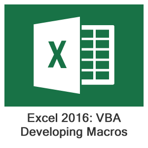 Excel 2016 VBA, Lesson 1: Developing Macros