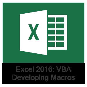 Excel 2016 VBA, Lesson 1: Developing Macros