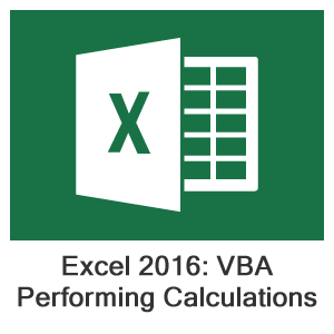 Excel 2016 VBA, Lesson 5: Performing Calculations